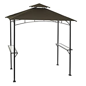 "Living Accents Steel Frame Grill Gazebo 96.1"" L X 59.9"" W 102.4"", Fabric Top"