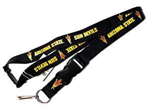 Buy NCAA Arizona State Sun Devils Clip Lanyard Keychain Id Holder Ticket Black by aminco