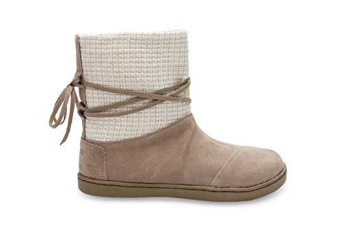 Toms Nepal Boots Taupe Suede with Metallic Wool 10006426 You