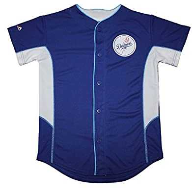 MLB Los Angeles Dodgers Youth Button Down Baseball Jersey