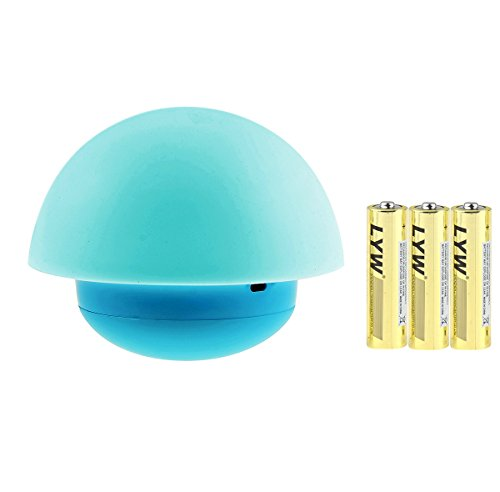 Firlar Tumbler Mushroom Night Light Include 3 Battery, 7 Color Tap Touch Sensor Portable Dimmable LED Nightlights Best Gift for Baby Bedroom Nursery (Portable Night Lights For Kids compare prices)