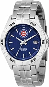 Chicago Cubs Fossil Mens Applied Watch