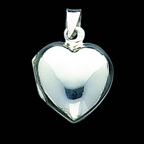 Sterling Silver Plain Domed Heart Locket. Metal Weight- 2.5g.