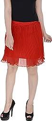 Soundarya Women's Regular Fit Skirt (Red, 24)