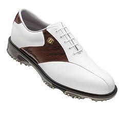 NEW FootJoy DryJoy Tour Mens Golf Shoe   53681 White Mahogany Stripe by FootJoy
