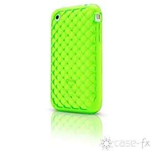 Case-FX Flex Cube Case for iPhone 3G / 3GS (Electric Lime) + Bonus: Case-FX Reveal Screen Protector for iPhone 3G / 3GS (Clear)