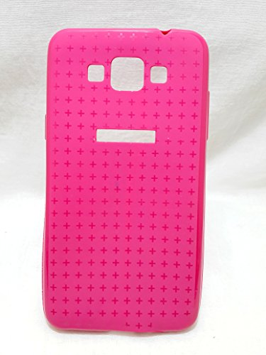 Iway Textured Design Matte & Glossy Finish Soft TPU Back Cover for Samsung Galaxy Grand Max 7202- Pink