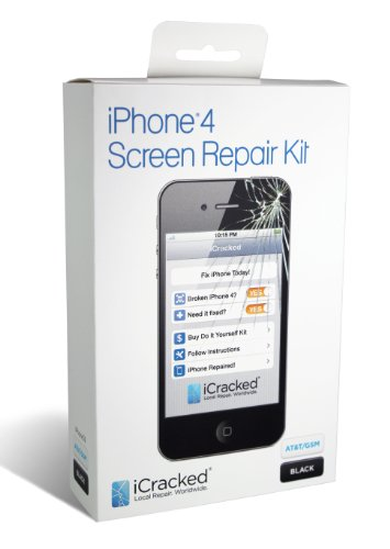 iPhone 4 GSM (AT&amp;T) Premium Screen Replacement &amp; Repair Kit &#8211; Black