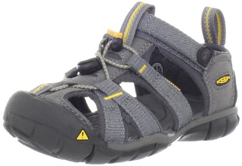 KEEN Seacamp CNX Sandal (Toddler/Little Kid/Big Kid),Gargoyle/Yellow,4 M US Big Kid