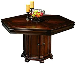 Howard miller 699 013 niagara game table for 3 sided dining room table