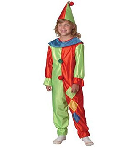 Clown Suit - Child's Shiny Clown Suit In Red And Green With Blue And Yellow Accents