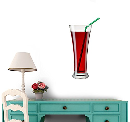 Glass of Cherry Juice Isolated on White with Clipping Path - 36