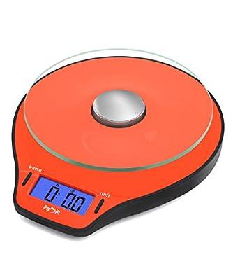 Famili FM206OB Digital Kitchen Food Scale 11lb/5kg Electronic Cooking Scale, Orange