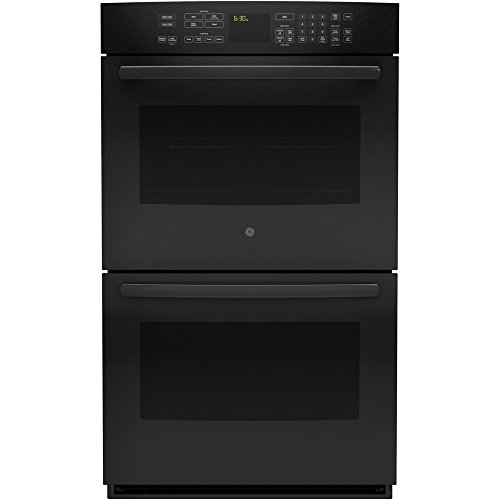 """GE Profile Series 30"""" Built-In Double Electric Convection Wall Oven Black PT9550DFBB"""