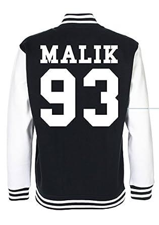 Amazon.com: Minamo Zayn Malik Date Of Birth Varsity Jacket: Clothing