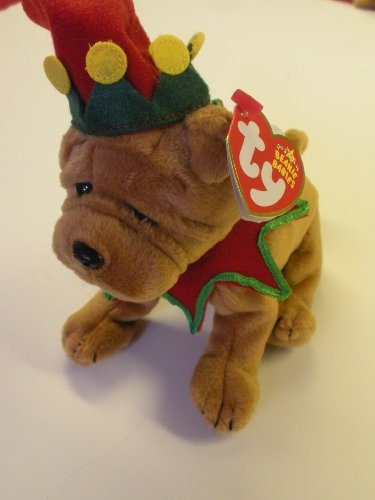 TY Beanie Baby - ELFIS the Holiday Dog (Learning Express Exclusive)