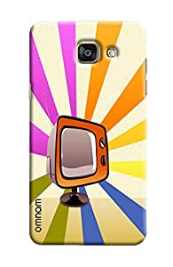 Omnam Old Tv Cartoon Effect Printed Designer Back Cover Case For Samsung Galaxy A7 (2016)