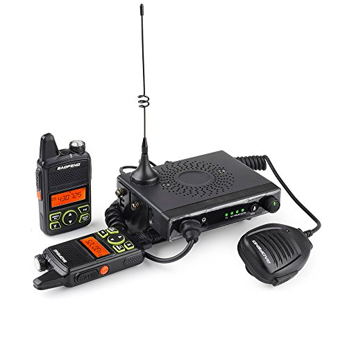 Baofeng - UHF400-470MHz 15W Mobile Car Transceiver 20 Channels with 2 Mini Handheld Walkie Talkies (Baofeng Head compare prices)