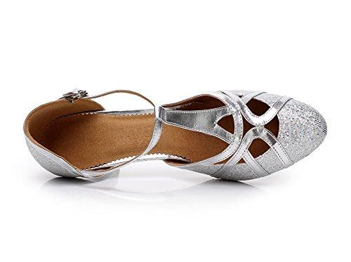 Minitoo , Damen Tanzschuhe, Silber - silber - Größe: 36