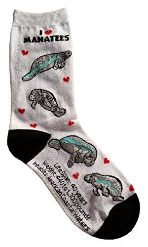 I Love Manatees Women Socks Cotton New Gift Fun Unique Fashion