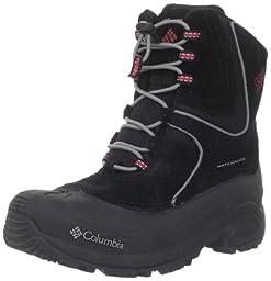 Columbia Youth Snowpack Snow Boot (Little Kid/Big Kid),Black/Intense Red,6 M US Big Kid