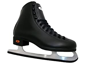 Riedell 110RS Black Mens Figure Ice Skates - Riedell Adult Ice Skates
