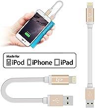 [Apple MFi Certification] LP® 0,16M Court Anti-Emmêlement TPE Plat Câble Lightning Chargeur&Synchronisation vers USB pour iPhone 6/6 Plus / 5s / 5c / 5, iPad Air / Air 2, Pour iPad Mini / Mini 2 / mini-3, 4 iPad, iPod nano 7e iPod touch 5(gris) (or)