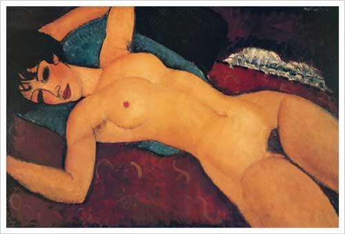 Nudo Disteso Art Print Poster by Amedeo Modigliani