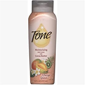 Tone Moisturizing Body Wash with Cocoa Butter, Mango Splash, 18 oz