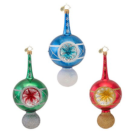 Christopher Radko Stem Reflector Freeblown Large Ornament