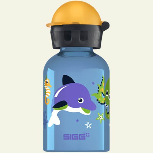 Sigg Dolphin & Co Water Bottle (Blue, 0.3-Litre) front-978070