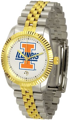 Illinois Fighting Illini NCAA Mens Steel Executive Watch