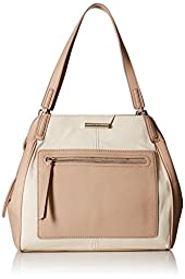 Nine West Just Zip It Shoulder Bag, Milk/Toffee