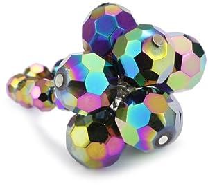 "Tarina Tarantino ""Starchild"" Cluster Black Opal Ring, Size 6.5"