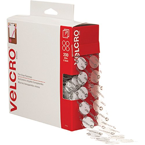 Why Choose VELCRO Brand - Sticky Back - 3/4 Coins, 200 Sets - Clear