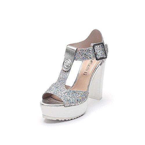 Tipe e Tacchi / sandali con tacco donna colore glitter cangiante