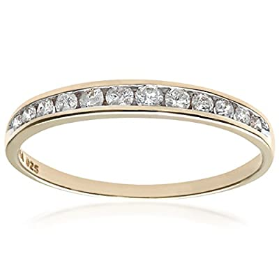 Ariel 9ct Quarter Carat Diamond Channel Set Half Eternity Ring