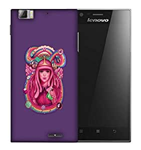 Snoogg Pink Lady Queen Designer Protective Back Case Cover For LENOVO K900