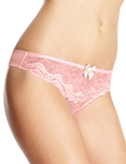 Limited Collection Floral Lace With Sparkle Thong