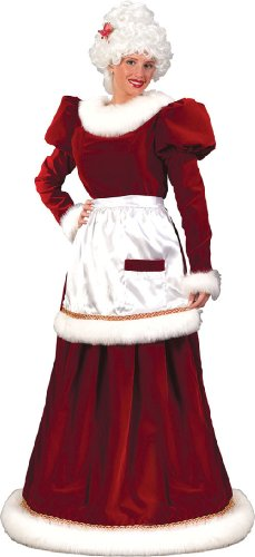 Costumes For All Occasions FW7571ML Santa Mrs Velvet Dress Medium Large