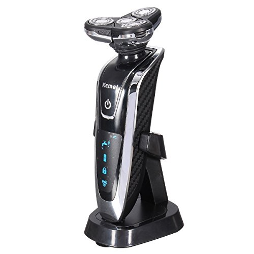 Men Shaver,Bienna Electric [5D Floating] Rotary 4 Heads Waterproof [Wet Dry] Rechargeable Shaving Razors with Pop-up Trimmer for Face Beard Sideburns