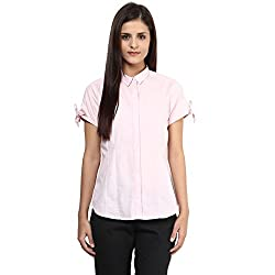 Annabelle by pantaloons Women's Casual Shirt (205000005551215_Pink_XS)