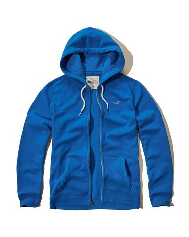 Hollister -  Felpa con cappuccio  - Uomo Blue Pl X-Large
