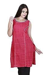 Eessence Women's Cotton Kurta (LCK010_PNK_M, Pink, M)