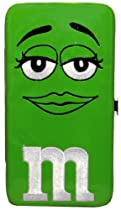 M&M Chocolates Green Big Face Ladies Hinge WALLET