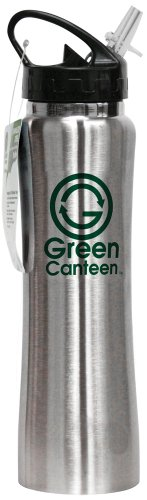 Green Canteen Stainless Steel 25-Ounce Sports/Hydration/Water Bottle, Silver