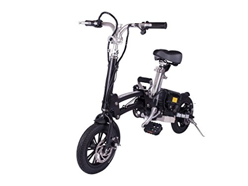 X-Treme Super Folding Electric Bicycle - Black