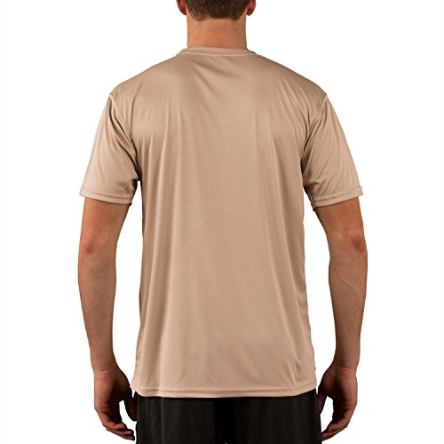 Vapor Apparel Men's Solar Performance UPF Short Sleeve T-Shirt XX-Large Tan