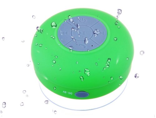 Mfine New Round Waterproof Wireless Bluetooth Shower Speaker Handsfree Speakerphone Compatible With All Bluetooth Devices Iphone 5S And All Android Devices, Great Fun For Your Shower And Outdoor Trip. (Green)