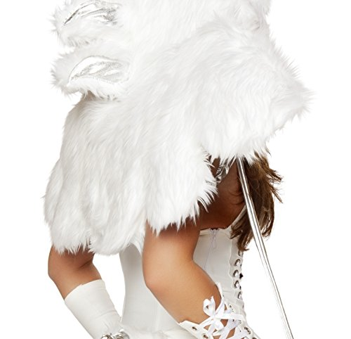 [J Valentine Women's Pegasus Unicorn Wings Sexy Halloween Costume One Size White] (J Valentine Unicorn Costume)